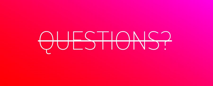 Never let your Keynote Speaker end their Speech with 'Questions'.