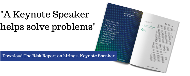 Risk report on hiring a keynote Speaker